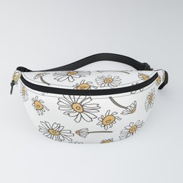 Wild Flowers Daisies Surface Pattern Design Fanny Pack