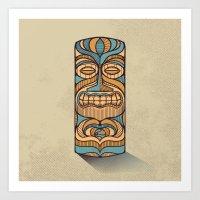 tiki Art Prints featuring Tiki by Brad Hansen