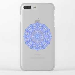 Mandala 12 / 4 eden spirit indigo blue Clear iPhone Case