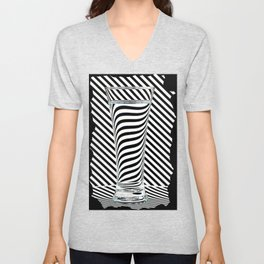 Striped Water Unisex V-Neck