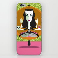 mid century iPhone & iPod Skins featuring Mid-Century Monster by Greenfuzz