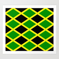 jamaica Art Prints featuring Jamaica Jamaica Jamaica by cleopetradesign.com