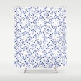 Pattern of little blue flowers Shower Curtain