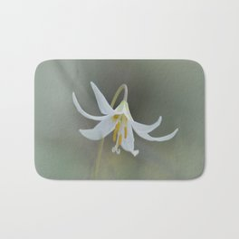 White Trout Lily in the Forest Bath Mat