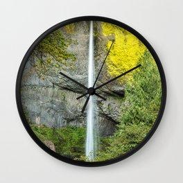 Latourell Falls Wall Clock