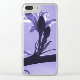 Hesperaloe parviflora Flower in Blue Mist Clear iPhone Case