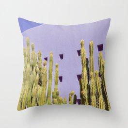 Contemporary Cactus Throw Pillow