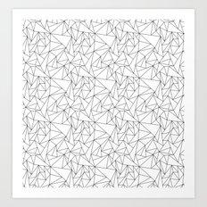 Geometric Triangels  Art Print
