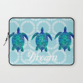 Turtle dream dreamer summer, illustration original painting print Laptop Sleeve