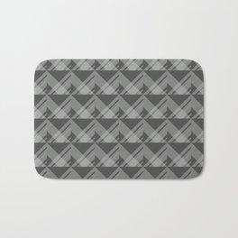 Modern Simple Geometric 5 in Charcoal Grey Bath Mat
