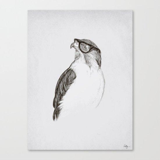 Hawk with Poor Eyesight Canvas Print