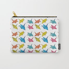 Colourfull paper cranes Carry-All Pouch
