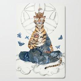 Meditating Tiger Cutting Board