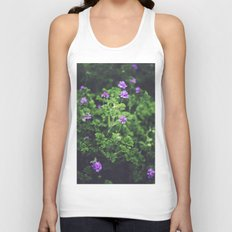 Purple Blossoms Unisex Tank Top
