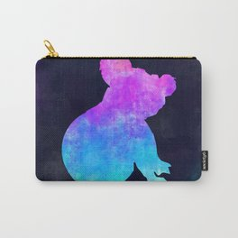 KOALA IN SPACE // Animal Graphic Art // Watercolor Canvas Painting // Modern Minimal Cute Carry-All Pouch