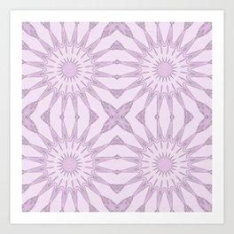 Lavender Pinwheel Flowers Art Print