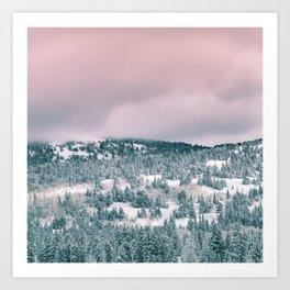 Blush Sky in Woodland Heights Art Print