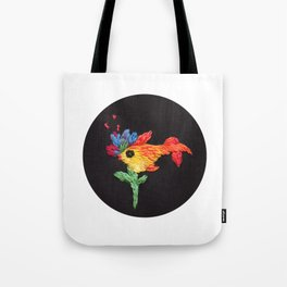 gold fish embroidery Tote Bag