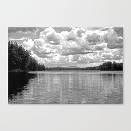 Between Lake and Sky Canvas Print