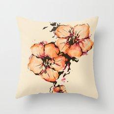 gumamela Throw Pillow
