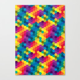 Hexagonized Canvas Print