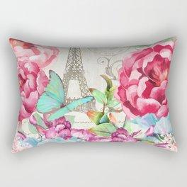 Paris Flower Market garden art Rectangular Pillow