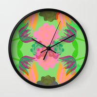 oasis Wall Clocks featuring Oasis by Ingrid Castile