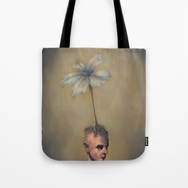 Man with Flower Tote Bag