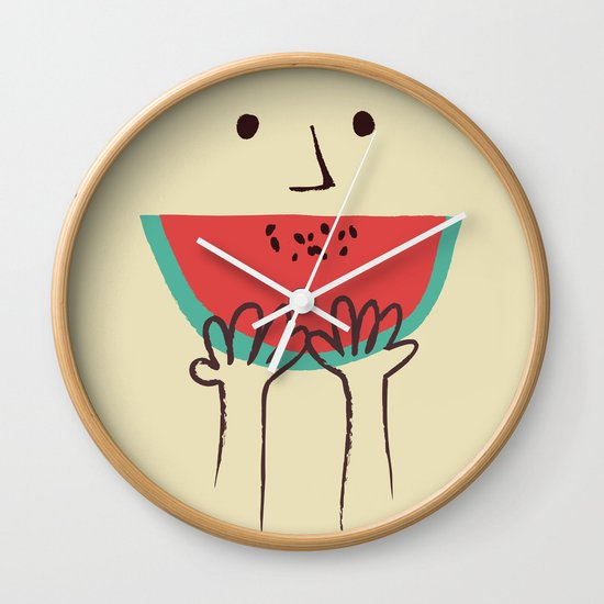 Summer smile Wall Clock