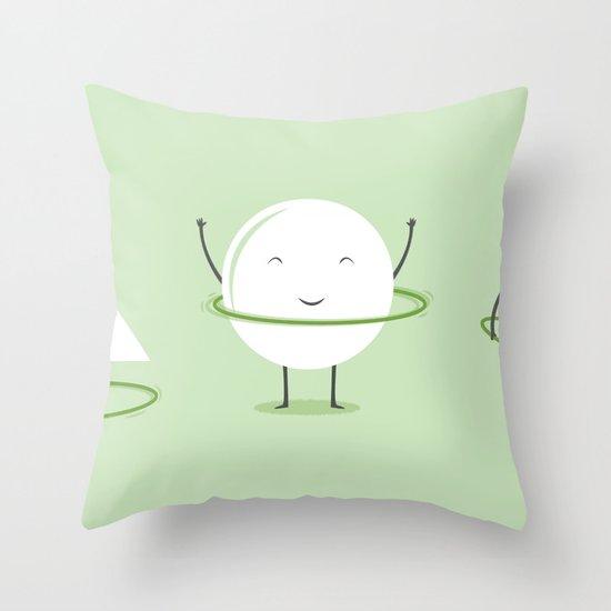 Hula-Hoop Champion Throw Pillow
