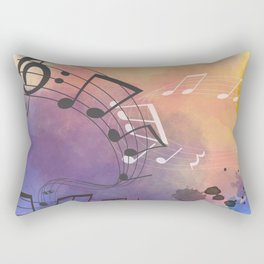 Colorful Splash Music Background Rectangular Pillow