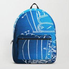 Baseball Glove Patent Blueprint Drawing Backpack