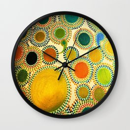 It's Big, It's Green, It's Not Often Seen - Golden Tint Wall Clock