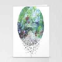 hakuna Stationery Cards featuring Hakuna Matata by Maria Sh