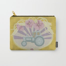 I Heart Tractors - mustard Carry-All Pouch