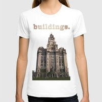 buildings T-shirts featuring Buildings by Wis Marvin