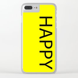Happy Yellow Black Clear iPhone Case