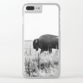 Bison strut Clear iPhone Case