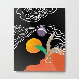 leave Metal Print