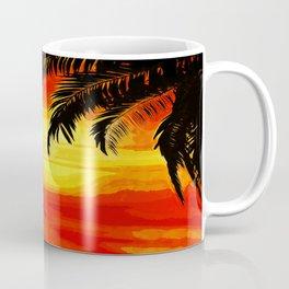 Sunset under the Palm trees Coffee Mug