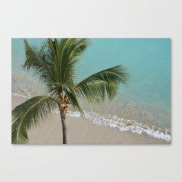 Palm Waves Canvas Print