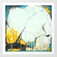 October - Square Abstarct Expressionism Art Print