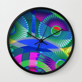 Bright Abstract Wall Clock