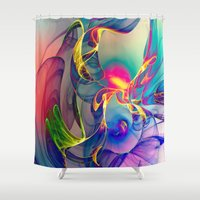 monika strigel Shower Curtains featuring Sunrise by Klara Acel