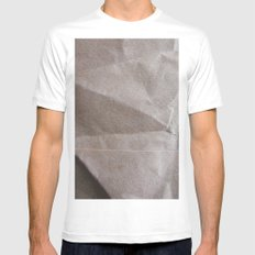 Brown bagging it. Mens Fitted Tee White MEDIUM