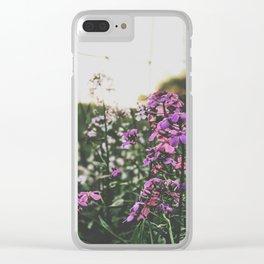 Purple Flowers • Appalachian Trail Clear iPhone Case