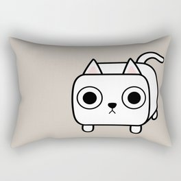 Cat Loaf - White Kitty Rectangular Pillow