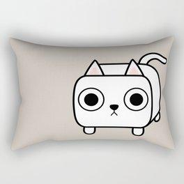 Cat Loaf - White Kitty Rectangular Pillow