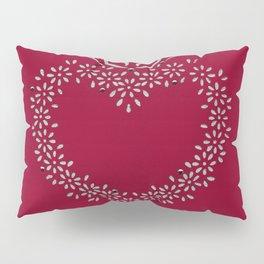 Heart Stencil Pillow Sham