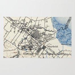 Vintage Map of Palo Alto California (1899) Rug